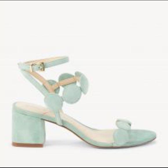7e8ec6cca5fb Sole Society sage green suede Shea block heels. M 5c65d50d619745b41dc3e613